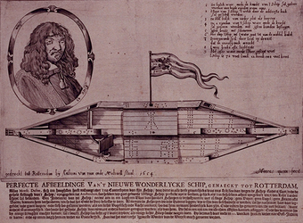 XXXIII-19-01 Het wondelijke schip Blixem van de See is gemaakt in Rotterdam. De afmeting van het schip is: de lengte 72 ...