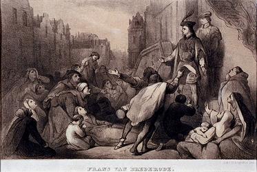 XXXIII-2 1489De burgerij smeekt Jonker Frans de stad over te geven.