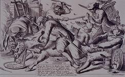 XXXIII-21 1674Spotprent op de vrede met Engeland en het verbond met Spanje en Duitsland.