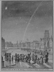 XXXIII-22-1 25 december 1680Komeet te Rotterdam waargenomen vanuit de Open Rijstuin.
