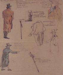 XXXIII-267-02-24 1913Herdenking van de 100-jarige onafhankelijkheid.Ontwerp in costuum in de optocht:- Jassen, stok, ...