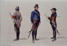 XXXIII-267-02-5 1913Herdenking van de 100-jarige onafhankelijkheid.Ontwerp in costuum in de optocht:- Rustbewaarder.