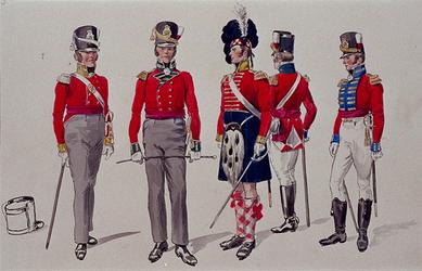 XXXIII-267-02-7 1913Herdenking van de 100-jarige onafhankelijkheid.Ontwerp in costuum in de optocht:- Grenadiers.