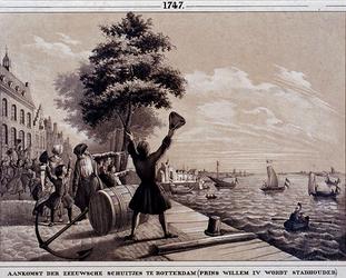 XXXIII-27 1747Verheffing van Willem IV.