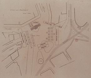 XXXIII-274-1 1913Herdenking van de 100-jarige onafhankelijkheid.Situatie van het Van Hogendorpsplein en het Oostplein ...