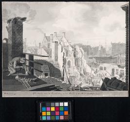 XXXIII-29-2 Maart 1779Ruïne na de brand in de Pottebakkerssteeg.