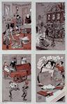 XXXIII-304-00-00-01 1914-1918De mobilisatie.4 taferelen uit het laatste jaar van de mobilisatie.- links boven: het ...