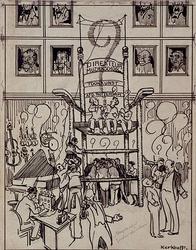 XXXIII-307-00-01 Circa 1916De Muziekschool van de Mij.Toonkunst zonder directeur.