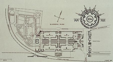 XXXIII-337-00-01 Maart 1928Plattegrond met de situatie van het Nenytoterrein.