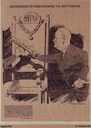 XXXIII-340-00-00-00-01 12 september 1928Spotprent op de benoeming van Mr. P. Droogleever Fortuyn tot burgemeester van ...