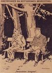 XXXIII-347-00-01 5 september 1931Spotprent op de tekorten op de begrotingen van Rotterdam en Amsterdam.De burgemeesters ...