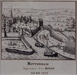 XXXIII-4 9 april 1572.De inneming van Rotterdam door Spaanse soldaten onder aanvoerdersschap van Bossu.