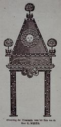 XXXIII-42 7 augustus 1788Afbeelding van de illuminatie voor het huis van de heer C. Werth in de Lombardstraat ter ...