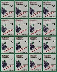 XXXIII-476 Actie tot behoud van een eigen Rotterdams Vliegveld in de maand oktober.Vel sluitzegels, uitgegeven door het ...