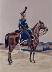 XXXIII-54-1 Circa 1815Brigadier der vrijwillige jagers te paard in 1813.