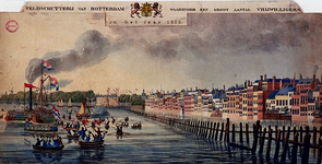 XXXIII-56-02 Het vertrek der Veldschutterij van Rotterdam, waaronder een groot aantal vrijwilligers, in het jaar ...