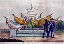 XXXIII-57-01 1830Symbolische voorstelling van de trouw van Rotterdam aan koning en vaderland, vervaardigd naar ...