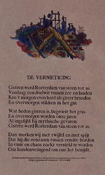 XXXIII-589-02-05 1940De vernietiging van Rotterdam, gedicht van Alfred Kossmann.