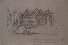 XXXIII-59 28 juli 1843 De ruïne van de fabriek van Van Oordt na de instoring van het achterste gedeelte der ...