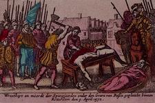 XXXIII-5B 9 april 1572Soldaten van Bossu begaan wreedheden na de verovering van de stad Rotterdam.