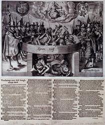 XXXIII-6 Spotprent naar aanleiding van de val van Johan van Oldenbarnevelt.