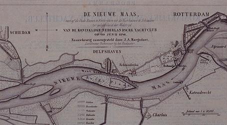 XXXIII-60-01 10 juni 1846Kaart van de Nieuwe Maas, vanaf de Oudehaven te Rotterdam tot de Voorhaven te Schiedam, ...