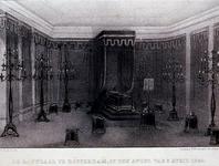 XXXIII-61-1 3 april 1849De rouwzaal te Rotterdam, ter gelegenheid van het overlijden van Koning Willem II.