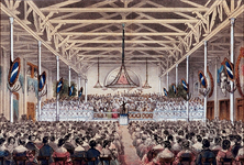 XXXIII-66 Juli 1854Een concert in het feestgebouw, aan het Nieuwe Werk.