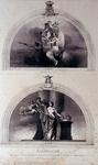XXXIII-67 1854Allegorische decoraties in het feestgebouw, aan het Nieuwe Werk.