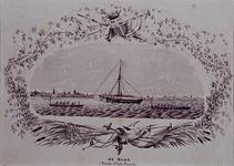 XXXIII-70-01-1-EN-2 12 juli 1854Roeiwedstrijd van de Kon. Ned. Yachtclub, op de Maas.