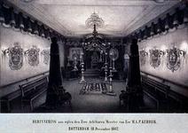 XXXIII-74-01 18 december 1862Rouwzaal in de loge van vrijmetselaren, ingericht ter herinnering aan wijlen Meester van ...