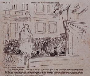 XXXIII-77 1867Onthulling van het standbeeld van van Hogendorp.