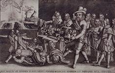 XXXIII-8 Spotprent naar aanleiding van de val van Johan van Oldenbarnevelt.