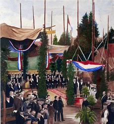 XXXIII-80-01 12 juni 1868Eerste steenlegging van de Westerkerk.
