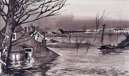 XXXIII-869-08-02 Een combinatie van zeer zware storm en springvloed veroorzaakt een watersnoodramp in Zeeland en delen ...
