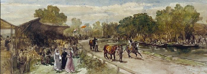XXXIII-89-02 11 juli 1877Nationale harddraverij op de Grindweg bij Hillegersberg.