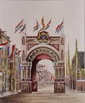 XXXIII-89-2 Erepoort op de Gedempte Botersloot opgericht ter gelegenheid van het bezoek van koning Willem III.