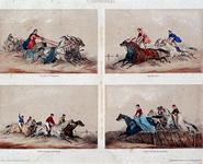 XXXIV-28-00-01-1 4 circusprenten op één blad.Nummer 13: Jeux de la 4me Olympiade Nummer 14: Jeux Équestres. Nummer 15: ...