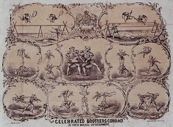 XXXIV-28-2 De voorstellingen van de Brothers Conrad.