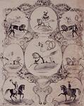 XXXIV-28-8 De voorstellingen van de beroemde paardrijders.
