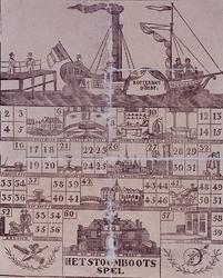 XXXIV-51-01 Stoombootspel, Rotterdam en Dordt met afbeeldingen onder meer van IJsselmonde, Dordt en de Oude Hoofdpoort, ...