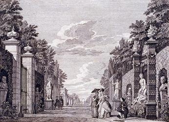 XXXIV-53 Afbeelding van het 3e toneel van het 2° bedrijf uit De tuin van het blijspel De Lhovenier der liefde vertoond ...
