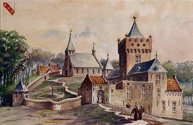 1971-2200 Kasteel of Reuzenhuis met kerk aan de Kerkstraat te Hillegersberg, vóór 1426.