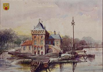 1971-2204 Duifhuis of Huis te Crooswijk aan de Rotte en de Crooswijksebocht.