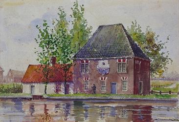 1971-2218 Tolhuis aan de Delftse Schie.