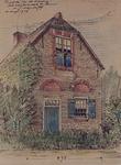 1971-2233 Gezicht op een huis aan de Roozandschedijk te Pernis.