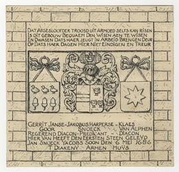 1971-2240 Gedenksteen van de Diaconiehuisjes te Zevenhuizen.