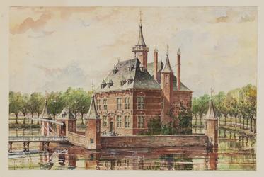 1971-2241 Het slot te Capelle a.d. IJssel in 1671.
