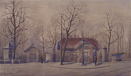 IX-1695 Gezicht op het Kruisplein uit het zuidwesten.