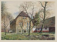 VERHEUL-NR-141 De achterzijde van boerderij Middel-Huyse aan de Holyweg in Vlaardinger Ambacht.Eigenaar, bewoner Joh. ...